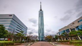 Fukuoka Tower in Japan stock video footage