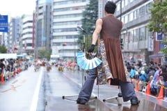 Fukuro matsuri yosakoi节日在东京 免版税库存图片