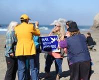 Fukushima är här protesten Royaltyfri Fotografi