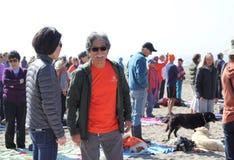 Fukushima est ici protestation Photos stock