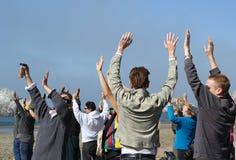 Fukushima est ici protestation Photos libres de droits