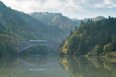 Fukushima First Bridge Tadami River Giappone Fotografia Stock Libera da Diritti