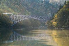Fukushima First Bridge Tadami River Giappone Immagine Stock