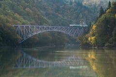 Fukushima Najpierw mosta Tadami rzeka Japonia Zdjęcia Stock