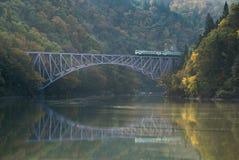 Fukushima Najpierw mosta Tadami rzeka Japonia Obrazy Royalty Free