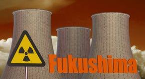Fukushima Radiation area concept Stock Photography