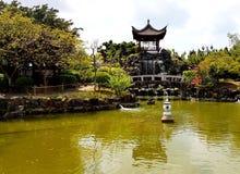Fukushuen庭院,冲绳岛 免版税库存图片
