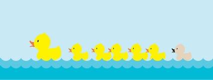 Ful duckling royaltyfri illustrationer