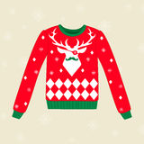 Ful tröja för jul Royaltyfri Bild