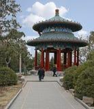 The Fulan Pavilion at Jingshan Park Beijing. Beijing, China - March 24 - The Fulan Pavilion at Jingshan Park Beijing royalty free stock photography