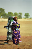 Fulani people at the river, Mali Stock Photography