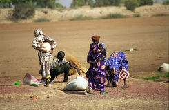 Fulani people at the river, Mali Stock Image