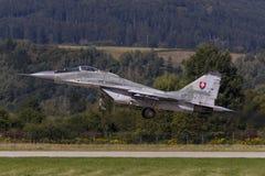 Fulcro eslovaco MiG-29 Foto de archivo