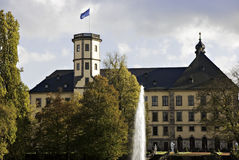 Fulda Castle with Fountain Stock Images