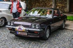FULDA, DEUTSCHLAND - MAI 2013: Retro- Auto Coupés Opel Mantas i200 auf MA Stockfotos