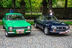 FULDA, GERMANY - MAI 2013: Ford Escort 1100 L and Lancia Fulvia Royalty Free Stock Photo