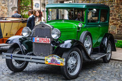 FULDA, GERMANY - MAI 2013: Ford Model A A-Model coupe retro car Royalty Free Stock Photography
