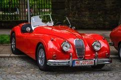 FULDA, GERMANY - MAI 2013: Jaguar XK120 carbio roadster retro ca Royalty Free Stock Photography