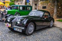 FULDA, GERMANY - MAI 2013: Jaguar XK120 sports coupe retro car o Stock Photography