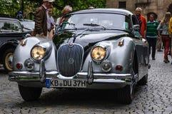 FULDA, GERMANY - MAI 2013: Jaguar XK150 sports coupe retro car o Royalty Free Stock Photo