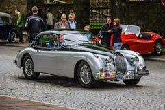 FULDA, GERMANY - MAI 2013: Jaguar XK150 sports coupe retro car o Stock Image