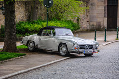 FULDA, GERMANY - MAI 2013: Mercedes-Benz 300SL cabrio roadster r Royalty Free Stock Photo