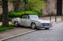 FULDA, GERMANY - MAI 2013: Mercedes-Benz 300SL cabrio roadster r Royalty Free Stock Photo
