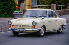 FULDA, GERMANY - MAI 2013: NSU Sport Prinz coupe retro car on Ma Royalty Free Stock Photos