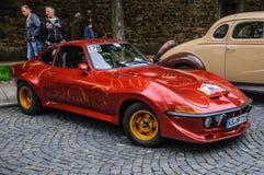 FULDA, GERMANY - MAI 2013: Opel GT sports coupe retro car on Mai Stock Images