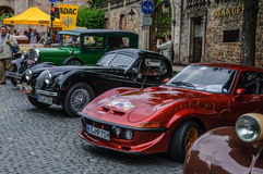 FULDA, GERMANY - MAI 2013: Opel GT sports coupe retro car on Mai Royalty Free Stock Photography