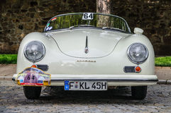 FULDA, GERMANY - MAI 2013: Porsche 356 cabrio luxury sport retro Stock Images