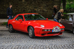 FULDA, GERMANY - MAI 2013: Porsche 968 coupe sports retro car on Royalty Free Stock Photos