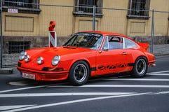 FULDA, NIEMCY - MAI 2013: Porsche 911 930 Carrera retro samochód dalej Obrazy Stock