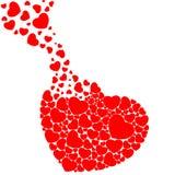 Fulfill heart. Fill the heart with hearts Royalty Free Stock Image