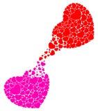 Fulfill heart. Fill the heart with hearts Stock Photos