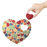Fulfill heart. Fulfill the heart with heart Stock Images