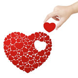 Fulfill heart Royalty Free Stock Photography