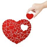 Fulfill heart. Fulfill the heart with heart Royalty Free Stock Photography