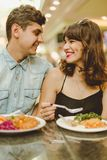 Fulfilling common appetite together Royalty Free Stock Photo