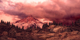 Fulgor de Alpen da montanha rochosa ilustração royalty free