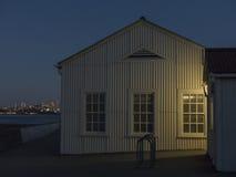 Fulgor de início da noite de San Francisco Foto de Stock Royalty Free