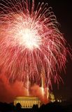 Fulgor del rojo de los cohetes Fotografía de archivo libre de regalías