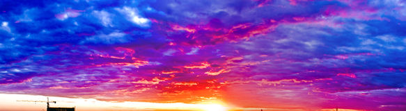 Fulgor do por do sol Foto de Stock