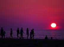 Fulgor do por do sol Fotos de Stock