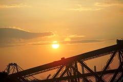 Fulgor do por do sol Imagens de Stock