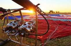 Fulgor & festival anuais do balão de ar quente no Arizona Imagem de Stock