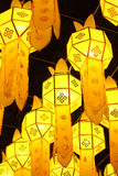 Fulgor lattern de papel tailandês Fotografia de Stock Royalty Free