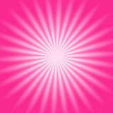 Fulgor radial cor-de-rosa Imagens de Stock Royalty Free