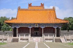 Fuling Tomb of Qing Dynasty, Shenyang, China. Long'en Hall and Square Castle of Fuling Tomb of Qing Dynasty, Shenyang, China Stock Photos