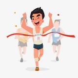 Fulländande löpareteckendesign med annan bakom Segra Cha Royaltyfri Bild
